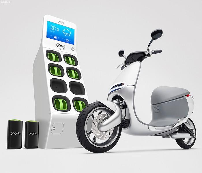 Uma scooter elétrica