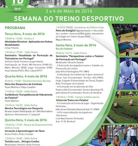 Semana do Treino Desportivo na FMH