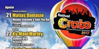 Festival do Crato já fechou o cartaz