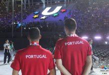 Ginastas masculinos portugueses pela primeira vez nas Universíadas