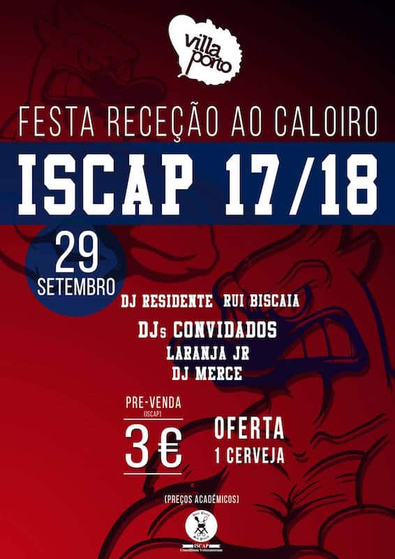 ISCAP organiza Festa Receção ao Caloiro na sexta-feira